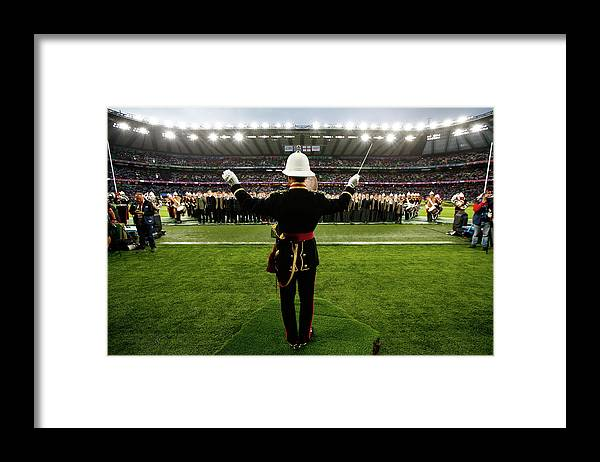 Opening Ceremony Framed Print featuring the photograph England V Fiji - Group A Rugby World by Chris Lee - World Rugby