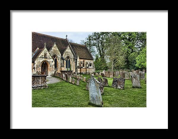 England Church Cemetary Yard Head Stone Grave Framed Print featuring the photograph English Church Yard by Noel Lopez