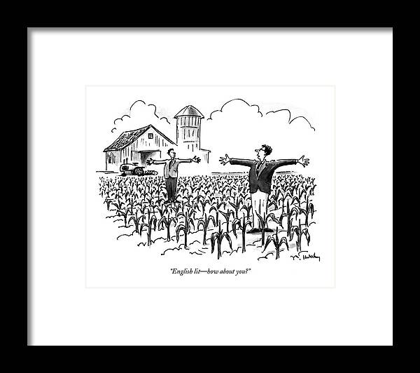 Education Framed Print featuring the drawing English Lit - How About You? by Mike Twohy