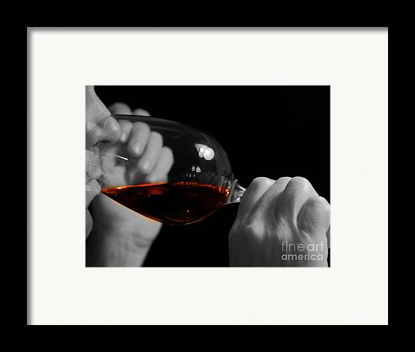 Beverage Framed Print featuring the photograph Enjoying Wine by Patricia Hofmeester