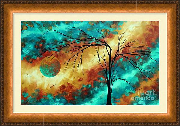 Enormous Abstract Art Brilliant Colors Original Contemporary Painting REACHING FOR THE MOON MADART by Megan Duncanson