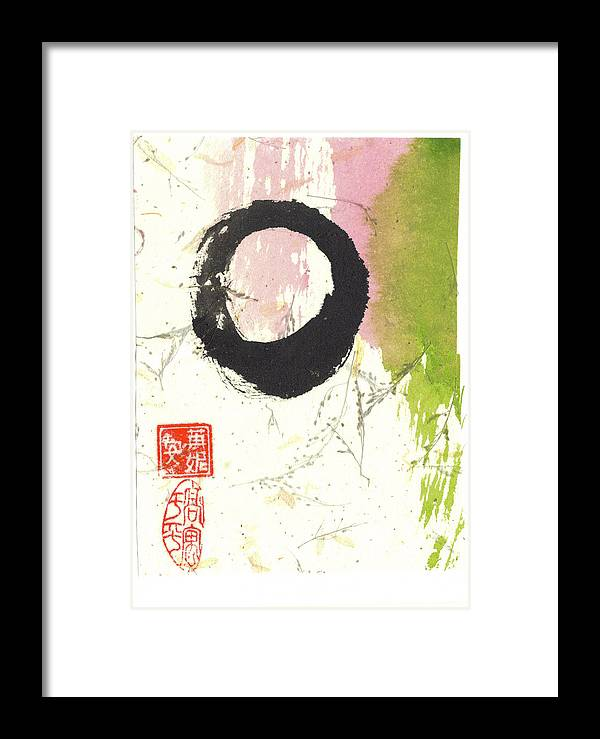 Aspiration Framed Print featuring the mixed media Enso 4 by Ren Adams