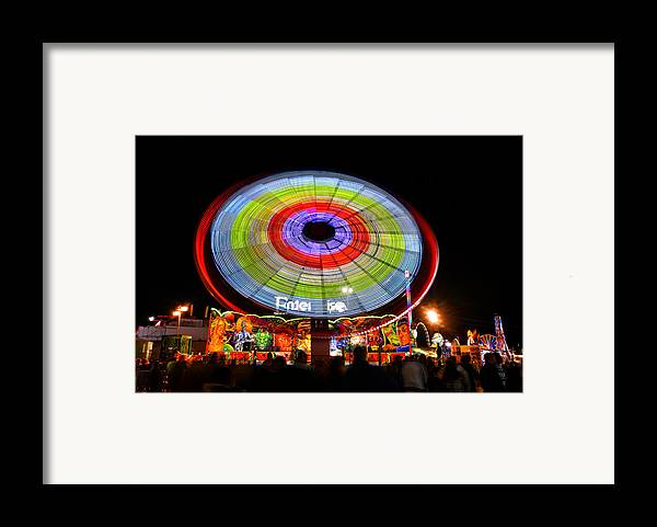 Landscape Framed Print featuring the photograph Enterprise On The Midway by David Lee Thompson