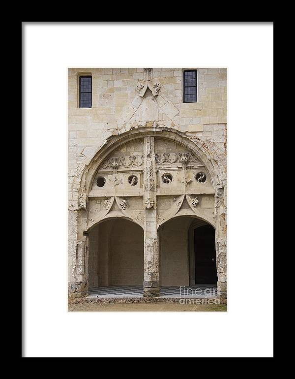 Cloister Framed Print featuring the photograph Entrance Fontevraud Abbey- France by Christiane Schulze Art And Photography