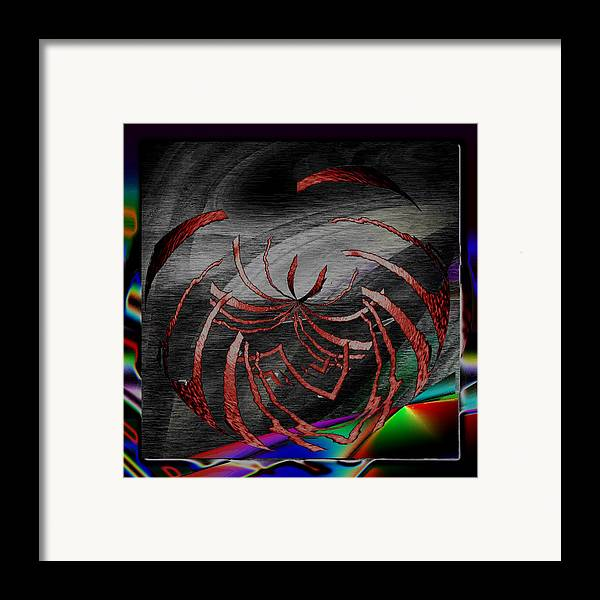 Abstract Framed Print featuring the digital art Enveloped 10 by Tim Allen
