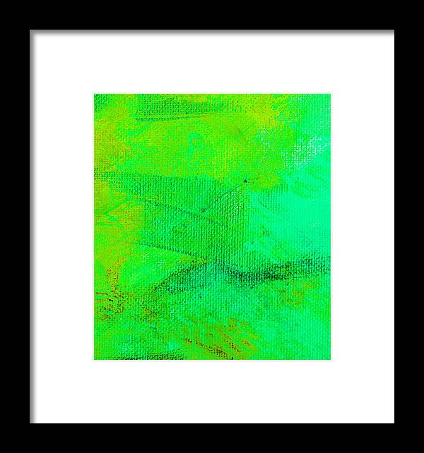 Abstract Framed Print featuring the painting Envision Aqua Green by L J Smith