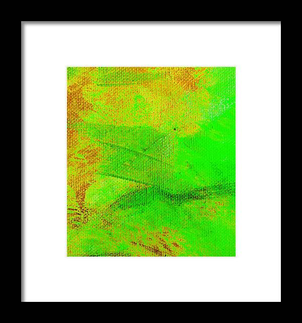 Abstract Framed Print featuring the painting Envision Emerald Green by L J Smith