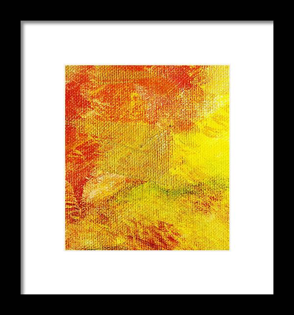 Abstract Framed Print featuring the painting Envision Natural by L J Smith