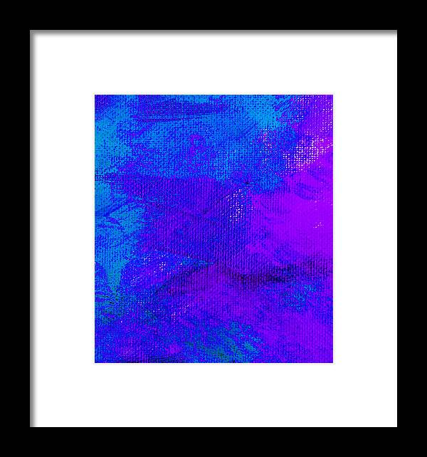 Abstract Framed Print featuring the painting Envision Purple Blue by L J Smith