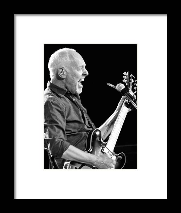 Eric Clapton Black And White Framed Print featuring the photograph Eric On Black by Alice Gipson
