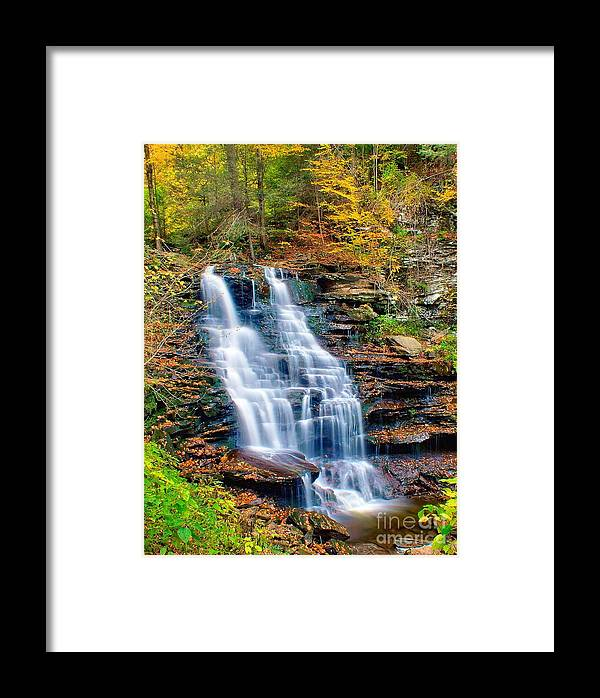 Waterfall Framed Print featuring the photograph Erie Falls by Nick Zelinsky