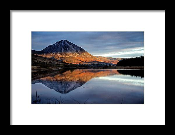 Scenics Framed Print featuring the photograph Errigal by Trevor Cole Alternative Visions Photography