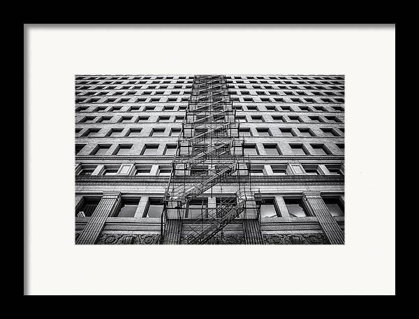 Fire Escape Framed Print featuring the photograph Escape by Scott Norris