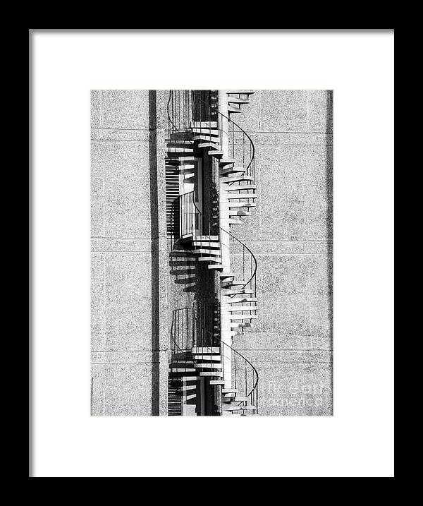 'black And White' Framed Print featuring the photograph Escape by Simon Pocklington