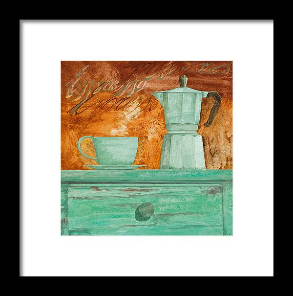Caffe Framed Print featuring the painting Espresso by Guido Borelli