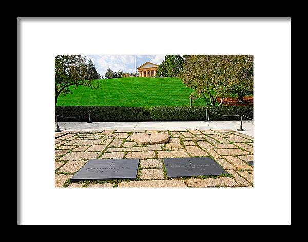 Jfk Framed Print featuring the photograph Eternal Flame At Kennedy Resting Place by Willie Harper