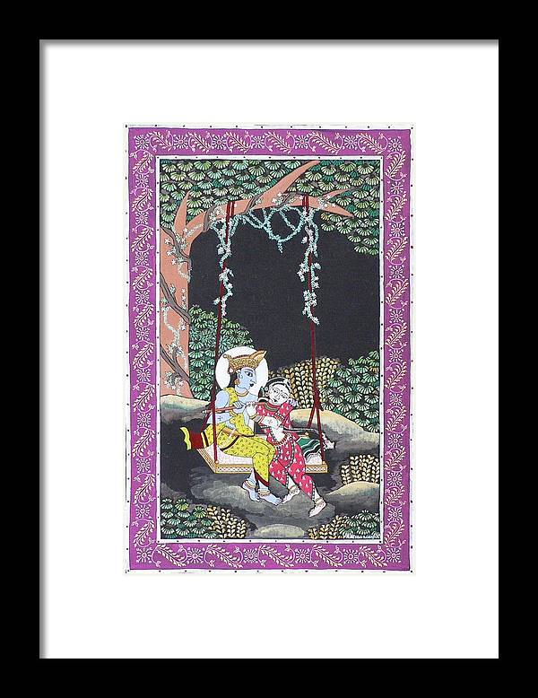 Krishna Framed Print featuring the painting Eternal Romance by Prasida Yerra