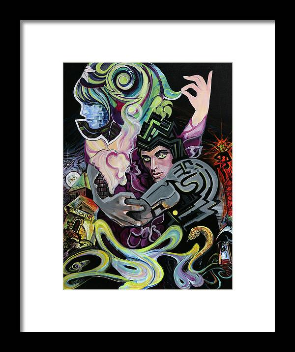Surreal Framed Print featuring the painting Eternity by Yelena Tylkina
