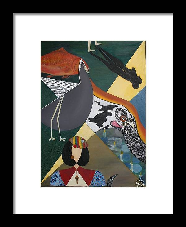 Framed Print featuring the painting Eternunion by Elimai Nivana Morin