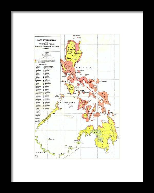 Ethnographic map philippines framed print by roberto prusso pd framed print featuring the drawing ethnographic map philippines by roberto prusso publicscrutiny Images