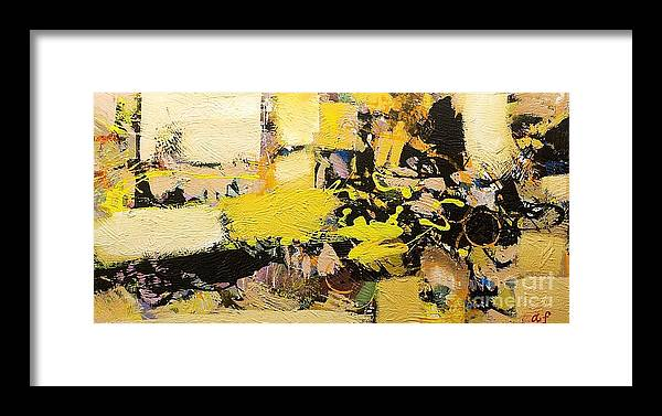Landscape Framed Print featuring the painting Euclid by Allan P Friedlander