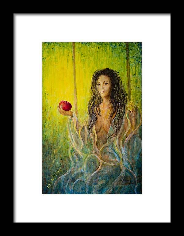 Eve Framed Print featuring the painting Eve 01 by Nik Helbig