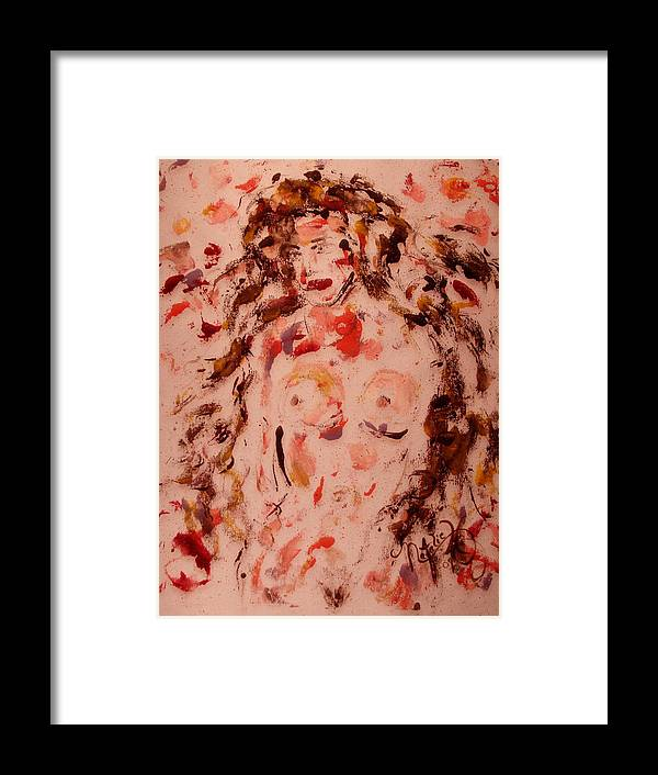 Nude Framed Print featuring the painting EVE by Natalie Holland