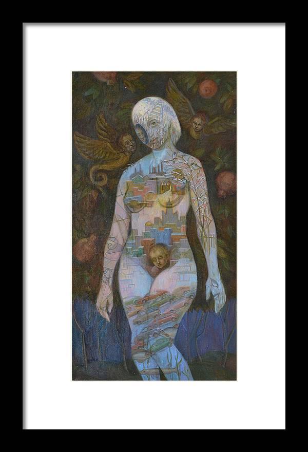 Eve Framed Print featuring the painting Eve by Viktoriya Basina