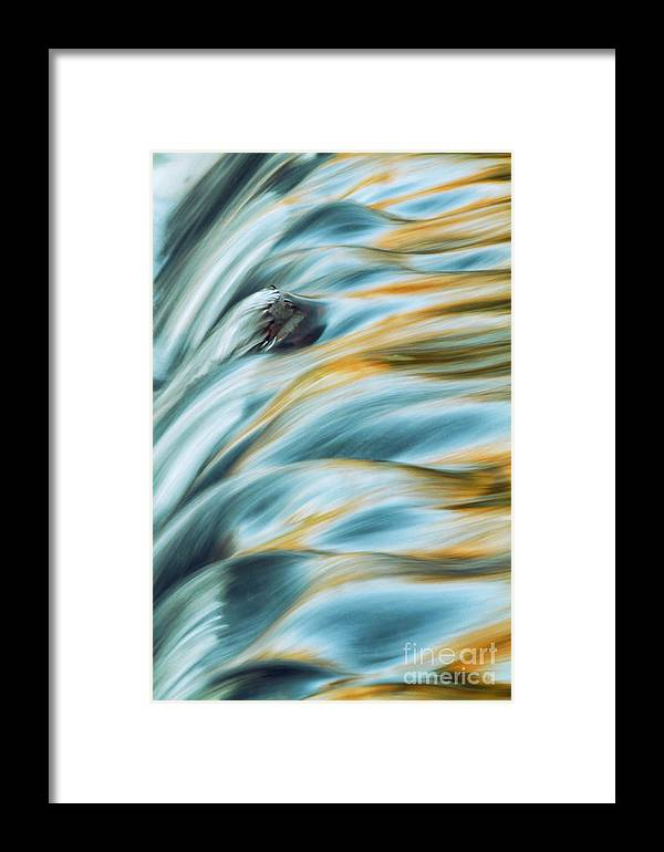 Bond Falls Framed Print featuring the photograph Even Flow by Todd Bielby