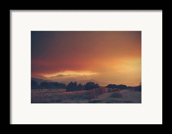 Palm Desert Framed Print featuring the photograph Even Now by Laurie Search