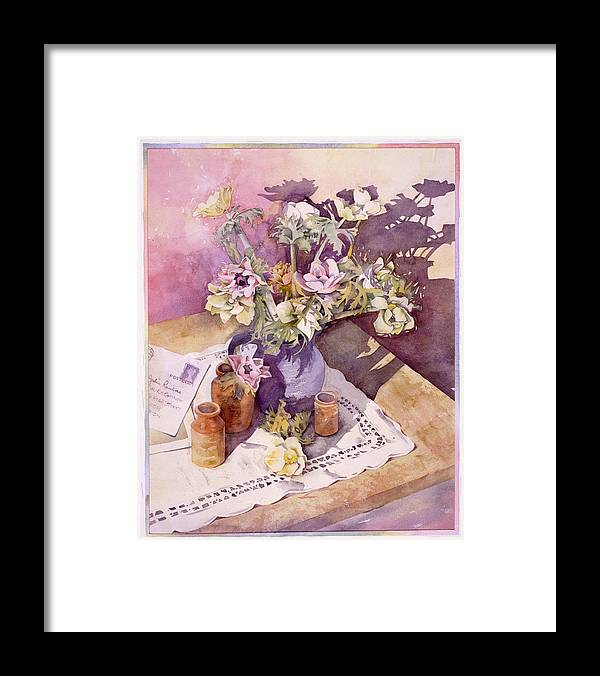 Julia Rowntree Framed Print featuring the photograph Evening Anemones by Julia Rowntree