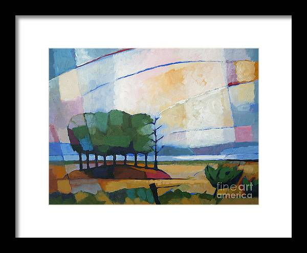 Landscape Framed Print featuring the painting Evening Landscape by Lutz Baar