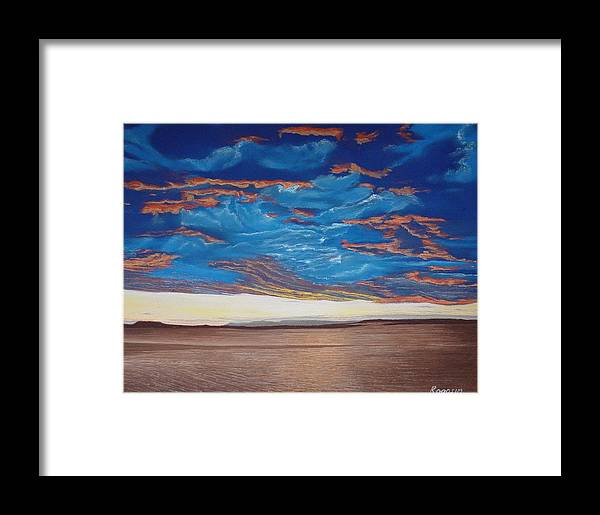 Cape Cod Framed Print featuring the pastel Evening Sky by Harvey Rogosin