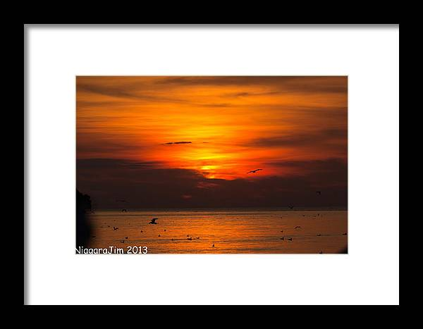 Evening Framed Print featuring the photograph Evening Sky by Jim Koniar