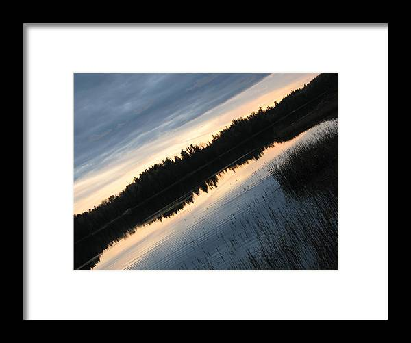Framed Print featuring the photograph Evening Slide by Matthew Barton