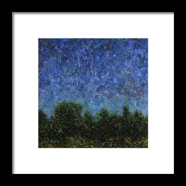 Square Framed Print featuring the painting Evening Star - Square by James W Johnson