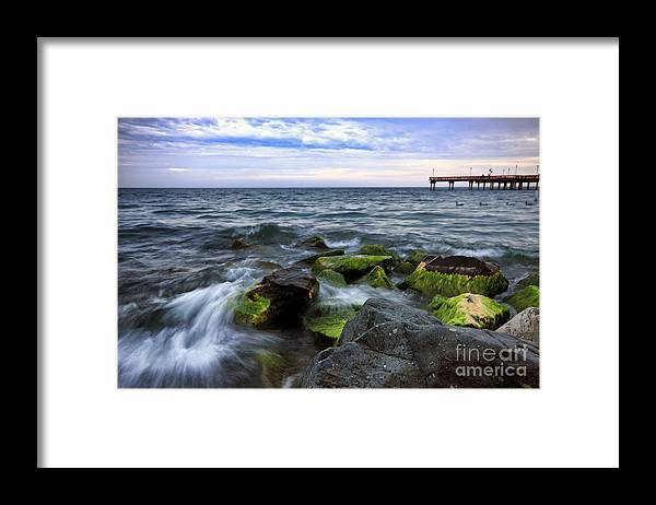 Beach Framed Print featuring the photograph Evening Tide by Charline Xia