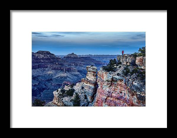 Grand Canyon Framed Print featuring the photograph Evening View by Diana Powell