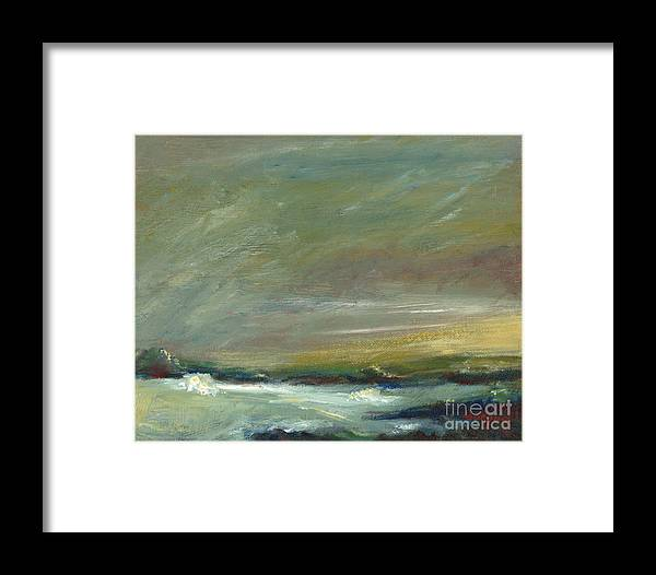 Evening's Approach Framed Print featuring the painting Evening's Approach by Addie Hocynec