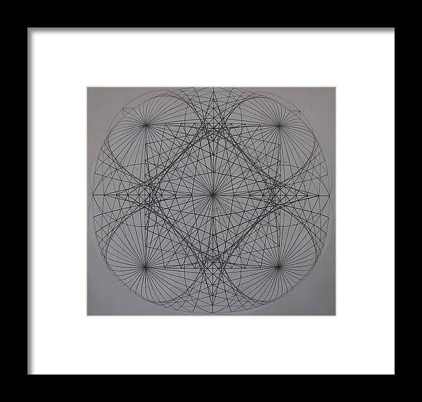 Event Horizon Framed Print featuring the digital art Event Horizon by Jason Padgett