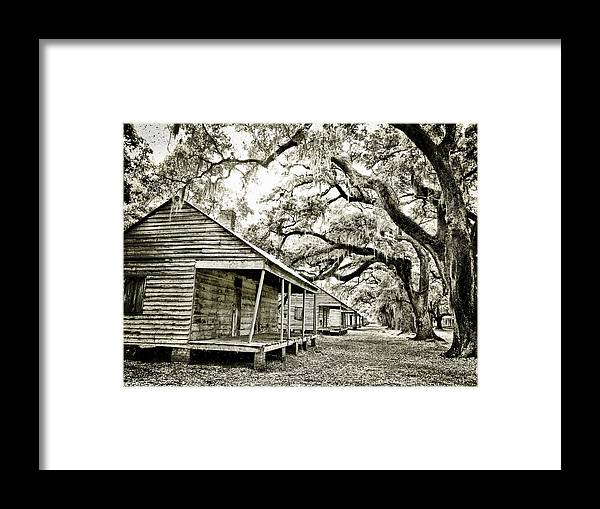 Evergreen Plantation Slave Cabins Framed Print by Kristin Ray
