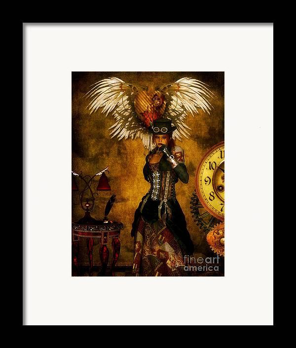 Steampunk Framed Print featuring the digital art Everlong by Putterhug Studio