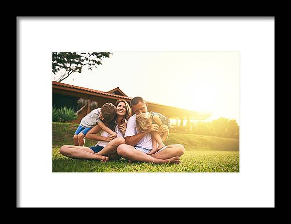Sibling Framed Print featuring the photograph Every moment spent together is absolute bliss by PeopleImages