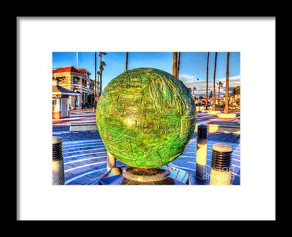 Newport Beach Framed Print featuring the photograph Everyone Is Welcome At The Beach by Jim Carrell