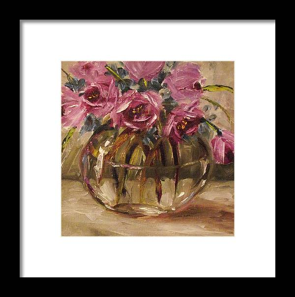 Purple Flowers Framed Print featuring the painting Everyone Needs A Little Purple By Alabama Artist Angela Sullivan by Angela Sullivan