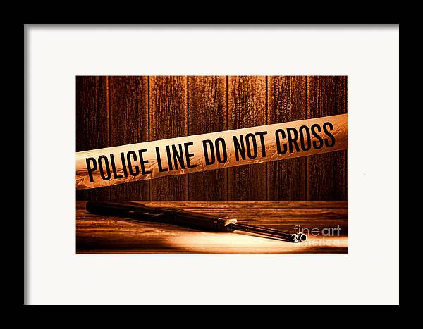 Police Line Framed Print featuring the photograph Evidence by Olivier Le Queinec