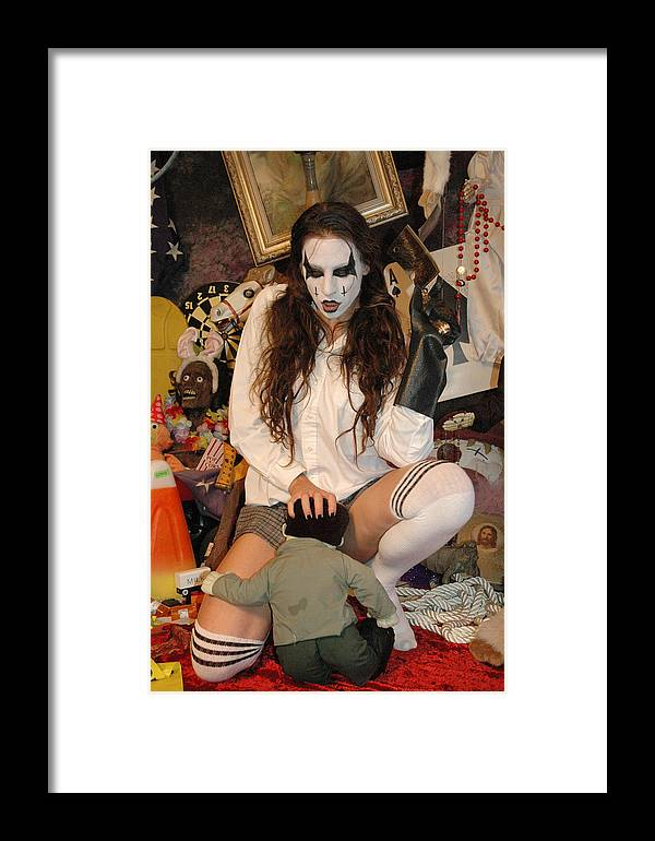 Photo Framed Print featuring the photograph Evil Schoolgirl 105 by Liezel Rubin