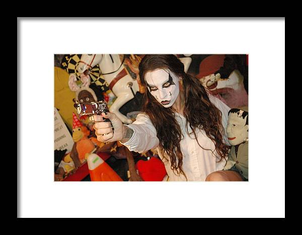 Photo Framed Print featuring the photograph Evil Schoolgirl 202 by Liezel Rubin