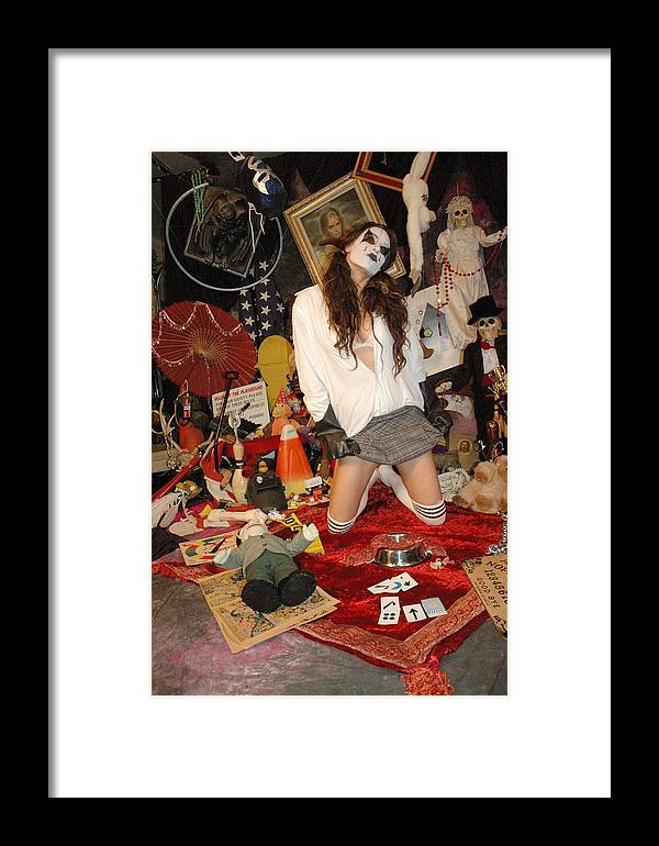 Photo Framed Print featuring the photograph Evil Schoolgirl 207 by Liezel Rubin