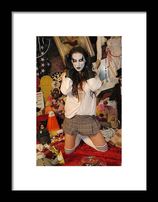Photo Framed Print featuring the photograph Evil Schoolgirl 217 by Liezel Rubin